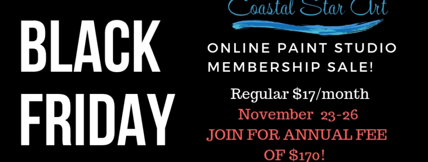 Black Friday Fun Online Paint Studio Discount Coastal Star Art